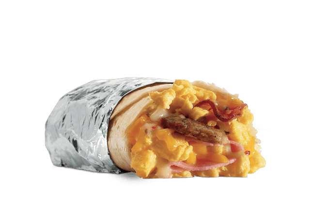 Meat Lovers Breakfast Burrito